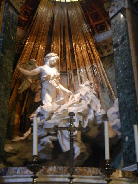 "Bernini's masterpiece the ""Ecstasy of Saint Teresa"" is in the church Santa Maria della Vittoria near Termini railway station."