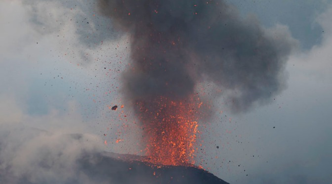 Erupting Volcano, Friday the 13th and a Full Moon!