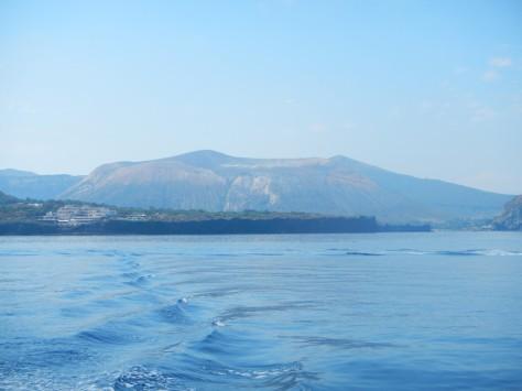 Approaching Vulcano by boat