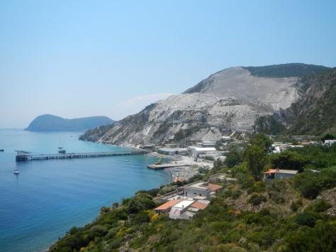 Lipari pumice quarry / mine