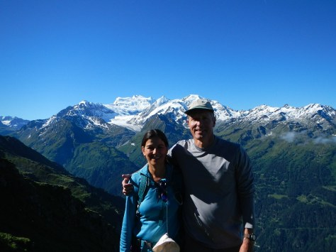 First great views - nearing the pass - still smiling