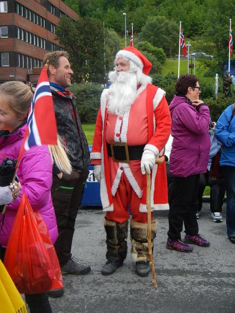 Santa showed up for the Arctic Race of Norway