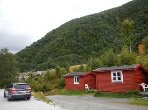 Cabin we stayed in at the first campground on Sognefjord