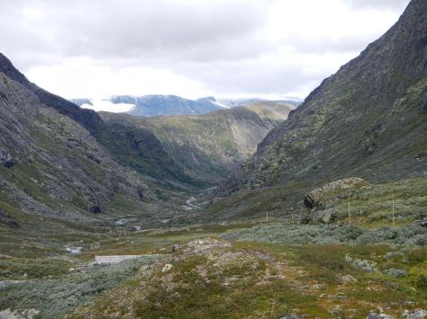 Another scenic road through Norway - from Tom to  Gaupne going over the highest mountain pass in Norway and weaving between two national parks.  Absolutely stunning with glaciers hanging over the valley.