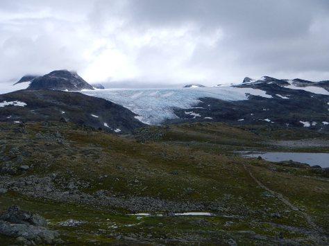 Glacier at the pass.