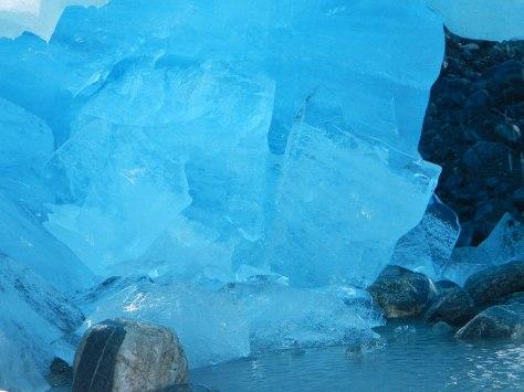 Ice chunks under the Nigardsbreen Glacier