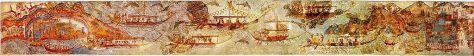 Flotilla - (http://en.wikipedia.org/wiki/Akrotiri_(Santorini)#mediaviewer/File:AKROTIRI_SHIP-PROCESSION-FULL_PANO-3.jpg)