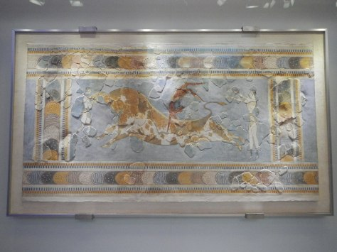 Acrobat jumping over the back of bull - Heraklion Museum