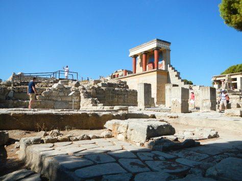 Evan's garish reconstructions dominate the site of Knossos