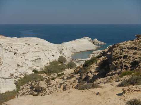 Sarakiniko Volcanic Tuff beach