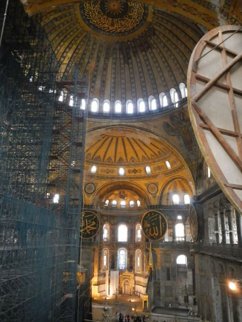 The Hagia Sophia - built as a Roman (Byzantine) Church and later converted to a Mosque around 1500 years ago will take your breath away.