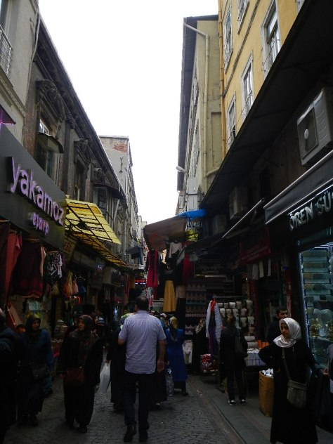 The streets between the Grand Bazaar and the Spice Bazaar are crammed with real Turkish people shopping.